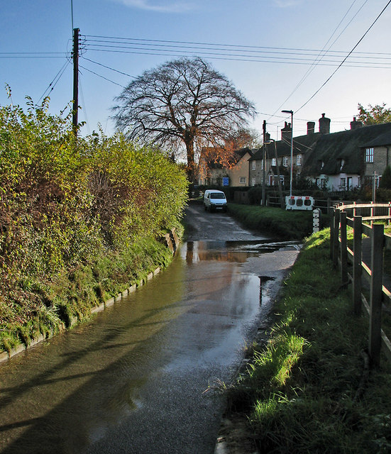 Bourn: part of the ford at Caxton End