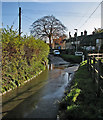 TL3157 : Bourn: part of the ford at Caxton End by John Sutton
