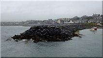NX3343 : Breakwater, Port William by Jonathan Billinger