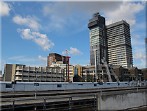 TQ3379 : Piling at London Bridge station by Stephen Craven