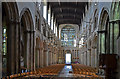 TQ7468 : Rochester Cathedral nave, looking west by Julian P Guffogg