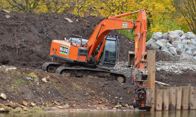 Revetment works, River Lagan, Belfast (1 in 2013)