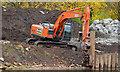 J3371 : Revetment works, River Lagan, Belfast (1 in 2013) by Albert Bridge