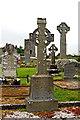 G6742 : Drumcliffe - 10thC-11thC Round Tower, Gravesite Celtic Cross & 9thC High Cross by Joseph Mischyshyn