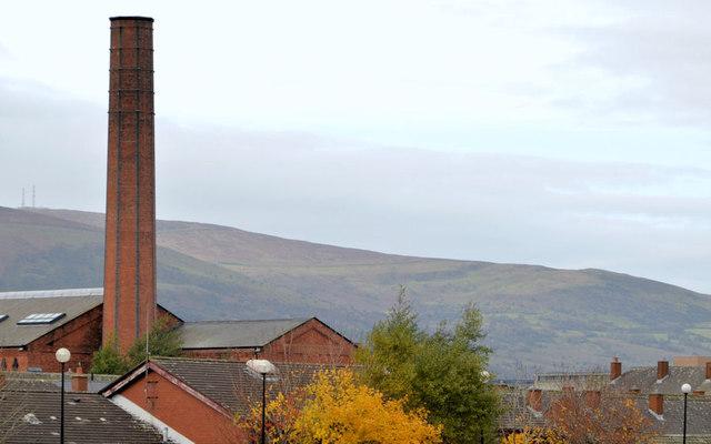 The gasworks chimney, Belfast