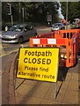 SX9065 : Footpath CLOSED, Newton Road by Derek Harper