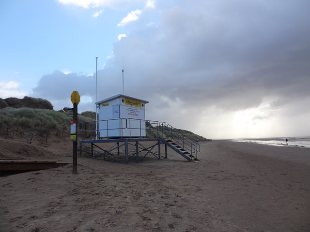 Formby beach RNLI  lifeguard base