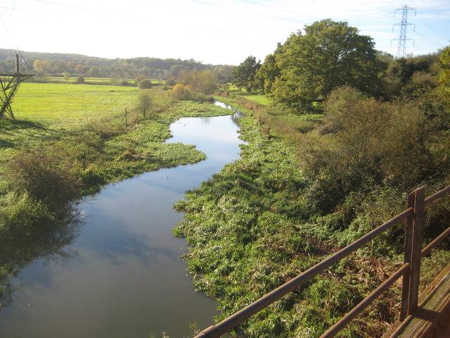 River Colne from Ebury Way, Watford