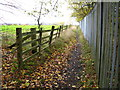 SJ2953 : Footpath beside security fence by Maggie Cox