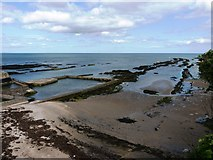 NO5017 : Tidal swimming pool and beach at low tide by Richard Law