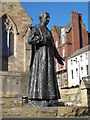 NZ2463 : Statue of Cardinal Basil Hume by Mike Quinn