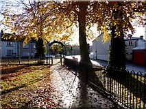 H4573 : Grange park, near the exit by Kenneth  Allen