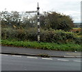 ST7592 : North side on an old-style signpost in Wotton-under-Edge by Jaggery