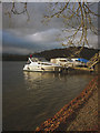 NY3702 : Boats moored at New Yacht Quay, Windermere by Karl and Ali