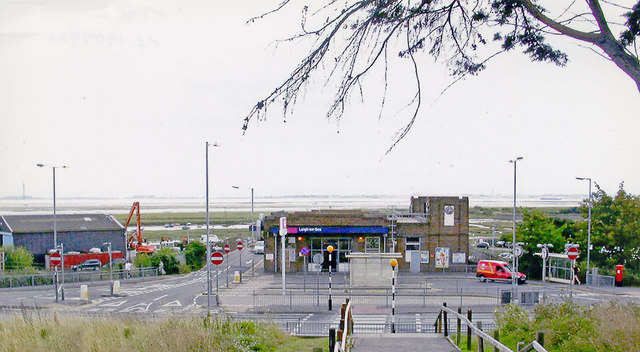Leigh-on-Sea station and Thames Estuary