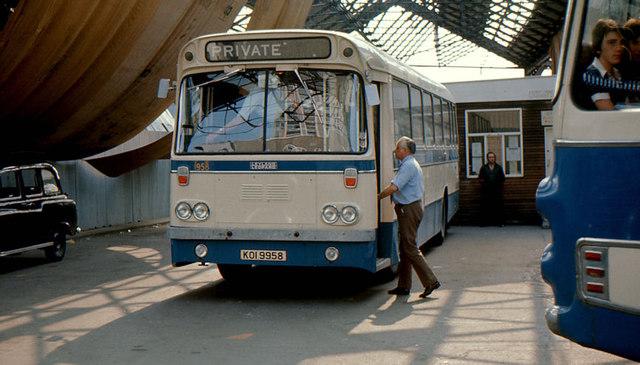 Gt Victoria Street bus station, Belfast (1976)