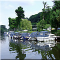 SO8164 : Moorings south-east of Shrawley, Worcestershire by Roger  Kidd