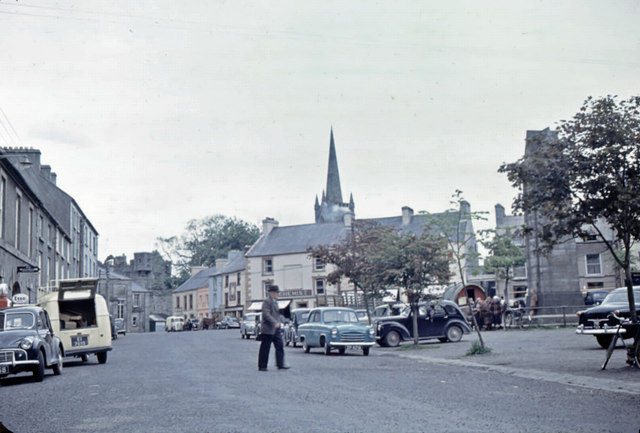 The Diamond, Donegal Town in 1958