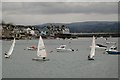SX9372 : Dinghy sailing in Teignmouth harbour by Robin Stott