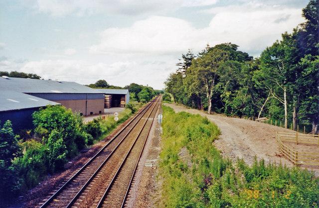 Site of Letham Grange station