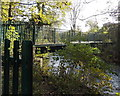 ST2787 : River footbridge between Rogerstone and Bassaleg by Jaggery