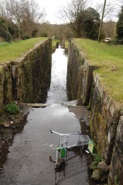 Former locks, Monmouthshire and Brecon Canal