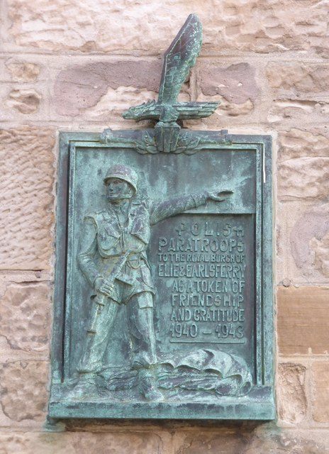 Polish Paratroops plaque, Earlsferry Town Hall
