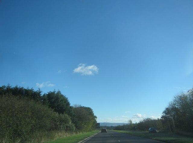 The A689, Coal Lane section, eastwards towards Teeside