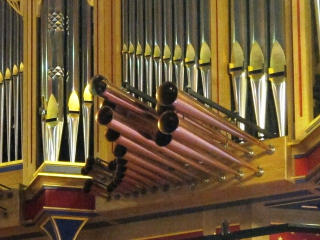 St. Mary's Cathedral, Clayton Street West, NE1 - organ (detail)