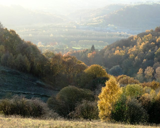 View to the Derwent valley from Back Lane