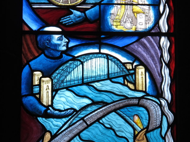 St. Mary's Cathedral, Clayton Street West, NE1 - stained glass window (detail)