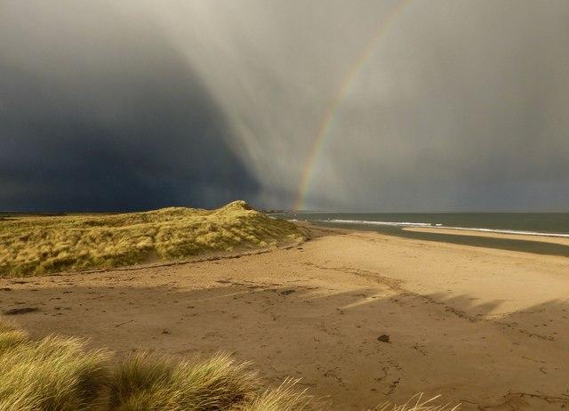 Storm brewing over Druridge Bay