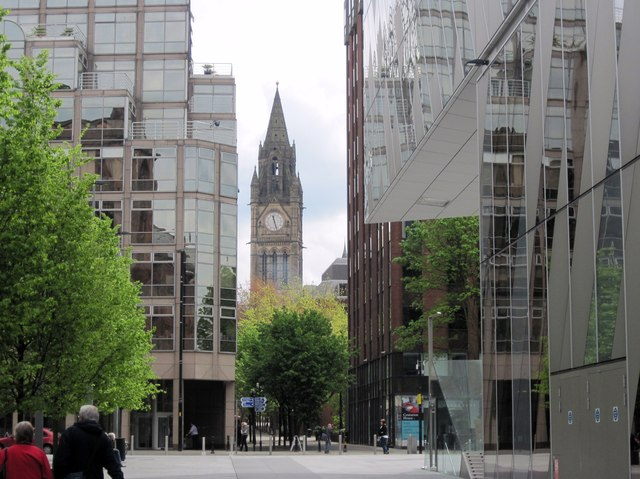 Towards the Town Hall, Manchester