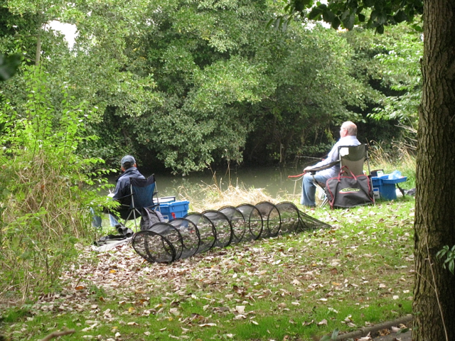 Anglers on the River Leam, York Promenade