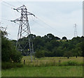SO8165 : Power lines along the River Severn by Mat Fascione