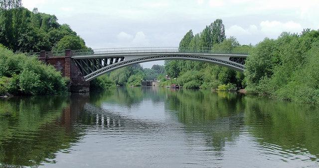 The River Severn at Holt Fleet Bridge, Worcestershire