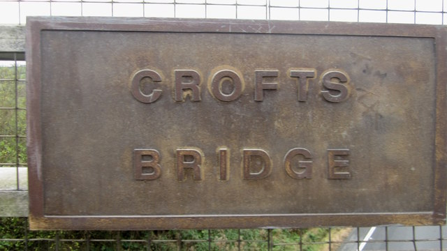 Name plaque on Crofts Bridge, Papcastle