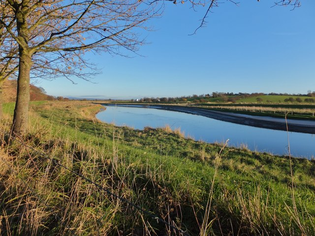 The River Wyre near Rawcliffe Hall