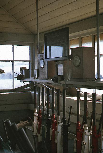 Helen's Bay signal cabin - interior - 1971