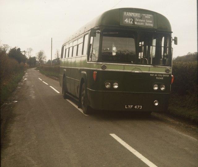 A London Country bus at Dogkennel Green