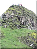 C9444 : Head for Heights - Sightseers on top of Aird's Snout by Eric Jones