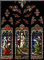 TQ7468 : Stained Glass window, Rochester Cathedral by Julian P Guffogg