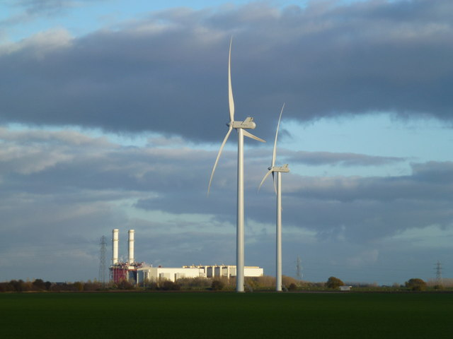 Wind power and gas power in The Fens