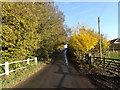 TM2360 : Old Maid's Lane, Brandeston by Adrian Cable