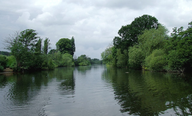 The River Severn east of Holt, Worcestershire