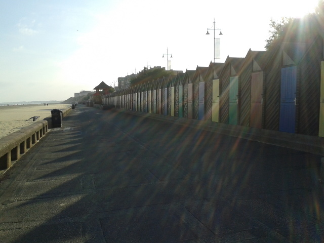 Beach huts in the autumn sun by Rob Purvis