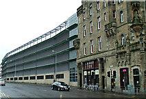 NS6065 : Glasgow Royal Infirmary multi storey car park by Thomas Nugent