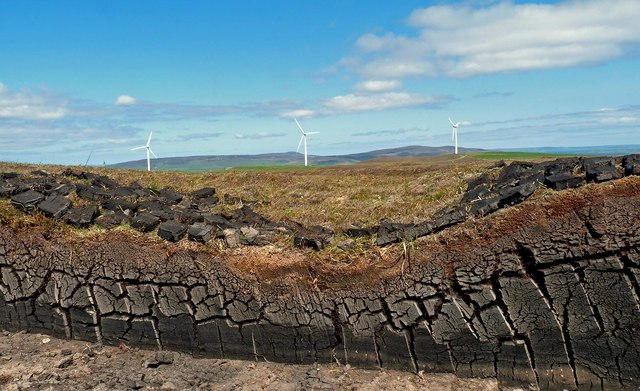 Peat cutting, Mid Hill, Orkney