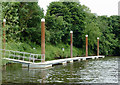 SO8459 : Pontoon landing stage by Hawford Locks, Worcestershire by Roger  Kidd