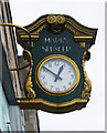 TQ3189 : Marks & Spencer branded clock, Wood Green by Julian Osley
